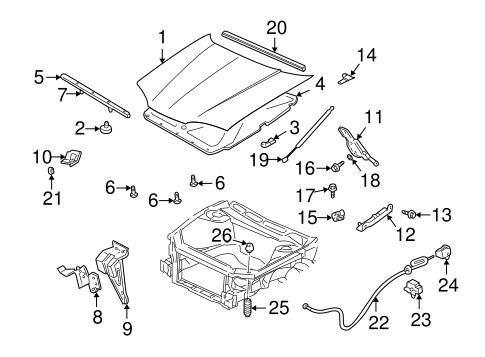 oem 2003 chevrolet monte carlo hood components parts. Black Bedroom Furniture Sets. Home Design Ideas