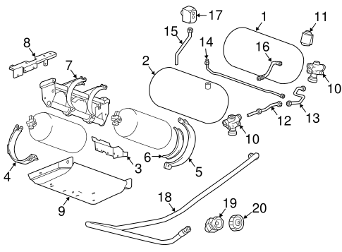 Oem Fuel System Components For 2017 Chevrolet Express 2500