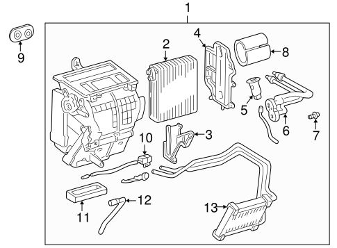 HVAC/EVAPORATOR COMPONENTS for 2003 Toyota Celica #1