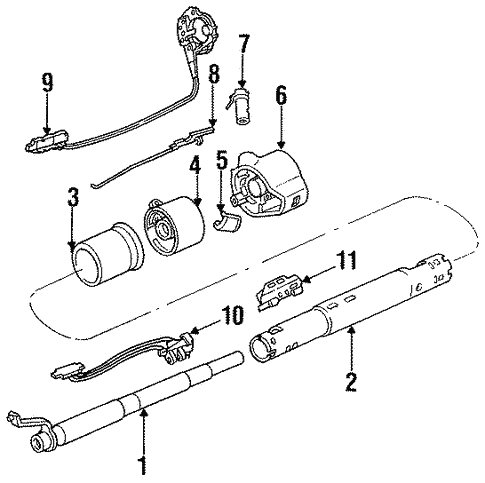 Steering Column Assembly for 1987 Oldsmobile Cutlass Salon | gmpartshouseGM Parts House