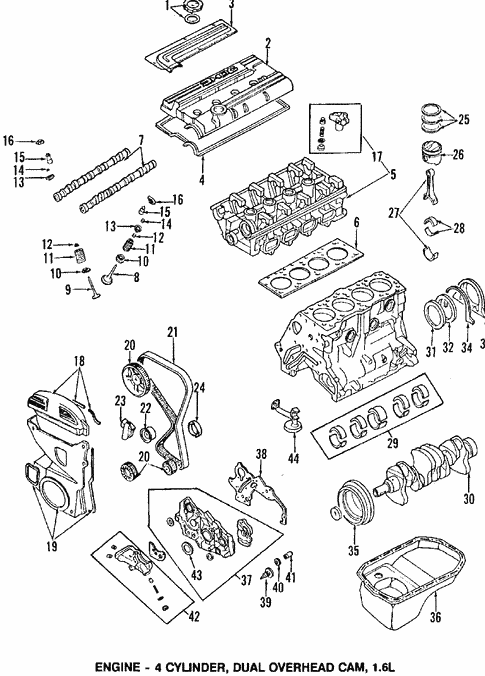 Engine Parts for 1989 Mitsubishi Mirage #0