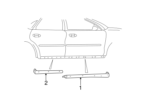 Body/Exterior Trim - Pillars for 2001 Ford Taurus #1