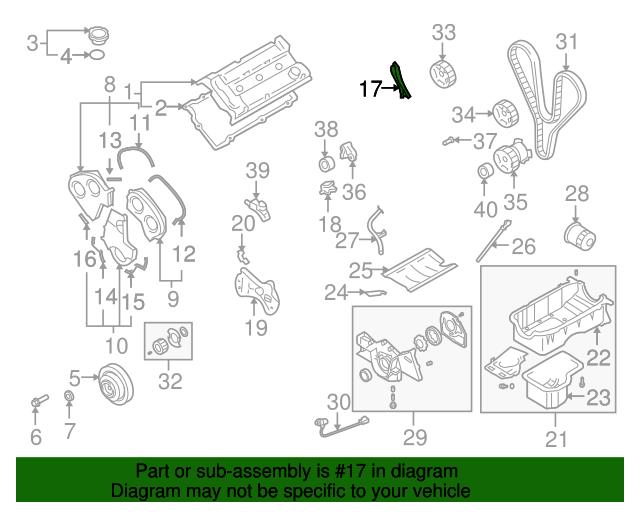 Kia 21381-39501 Engine Timing Cover