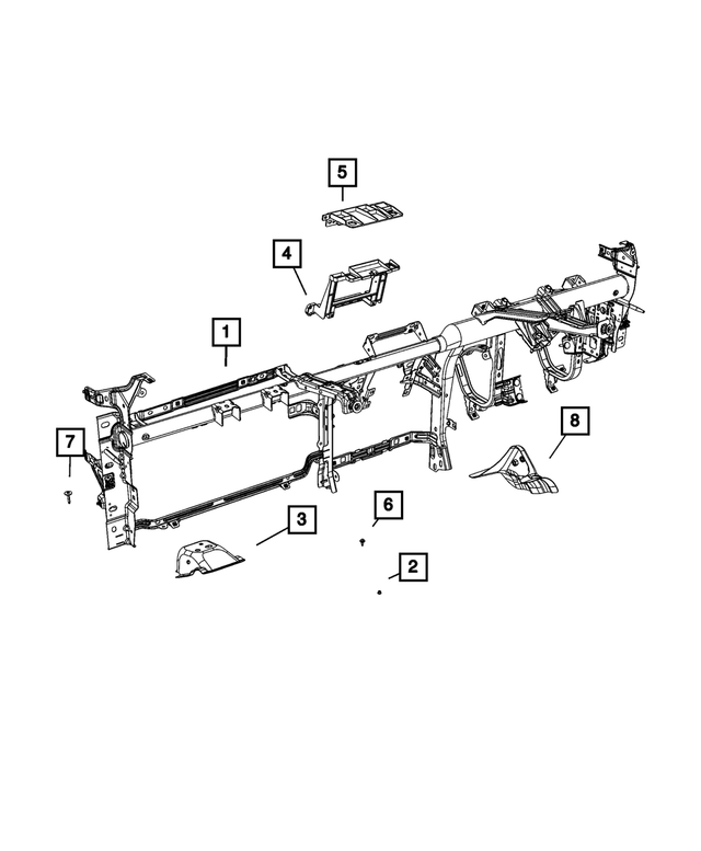 Radio Bracket - Mopar (68354582AA)