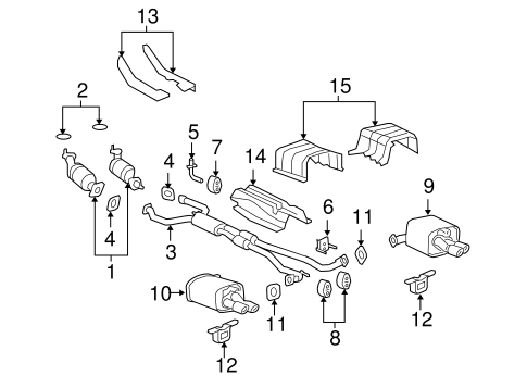 Exhaust Components For 2009 Pontiac G8