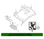 Map Lamp Assembly - Nissan (26430-ZT52B)