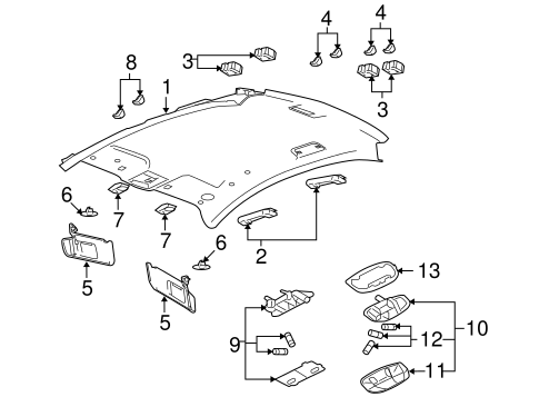Body/Interior Trim - Roof for 2009 Ford Taurus #1