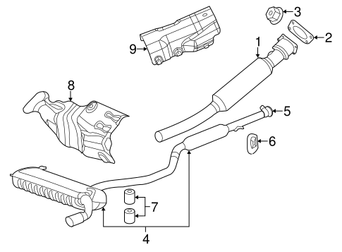 Exhaust Components For 2011 Chrysler 200