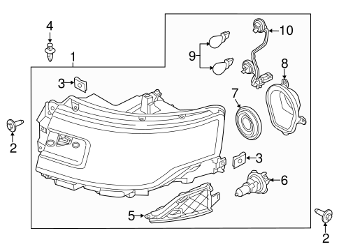 Electrical/Headlamp Components for 2013 Ford Flex #2
