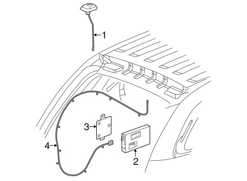 Oem 2006 Pontiac Torrent Antenna Radio Parts