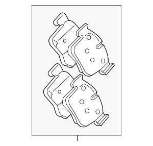 Brake Pads - Jaguar (T2H16147)