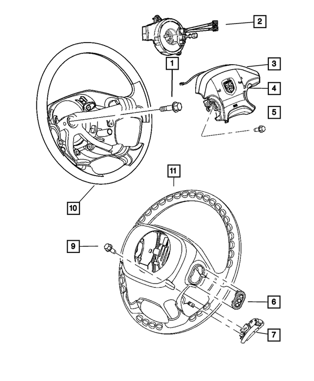 Steering Wheel - Mopar (1AK381Y3AB)