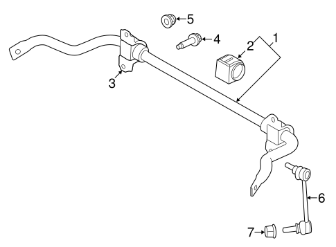 Stabilizer Bar Components For 2017 Land Rover Range Rover Sport