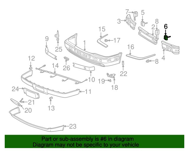 Energy absorber bracket mercedes benz 210 880 17 14 for Mercedes benz genuine parts