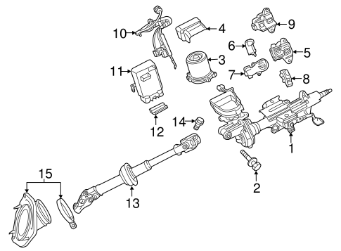 STEERING/STEERING COLUMN ASSEMBLY for 2015 Toyota Highlander #1