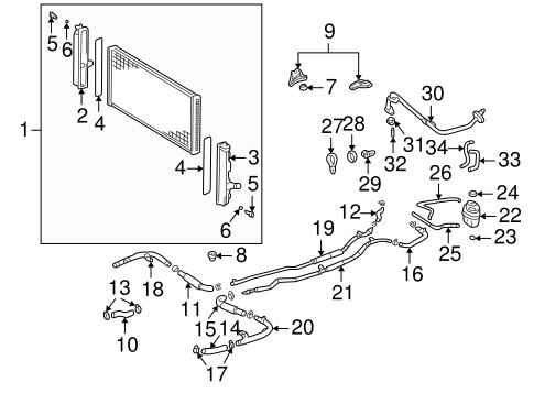 Radiator Components For 2001 Toyota Mr2 Spyder Toyotaofmassapequaparts