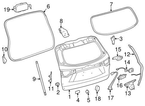 Gate & Hardware for 2016 Toyota Highlander #0