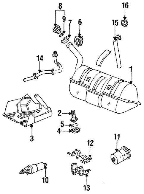 fuel system components for 1999 mercedes