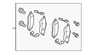 Brake Pads - Mercedes-Benz (007-420-76-20)