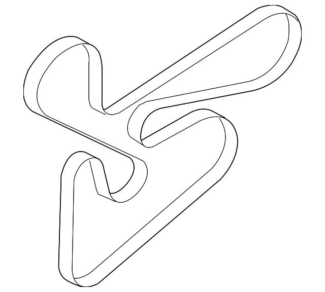 genuine mitsubishi serpentine belt 1340a123