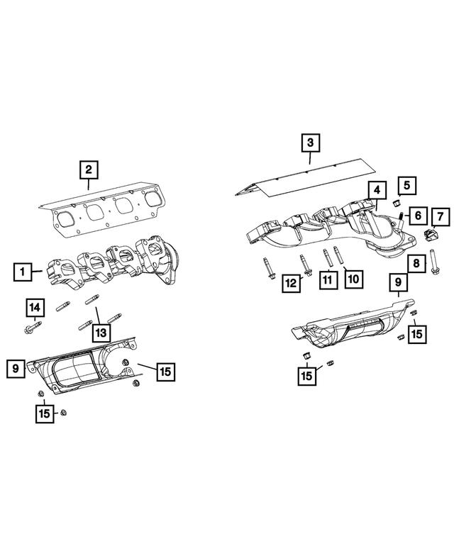 Genuine Chrysler 4893789AA Exhaust Manifold Gasket