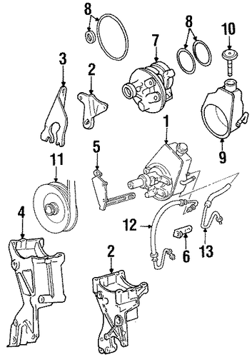 1992 c1500 steering diagram 90 chevy c1500 wiring diagram oem pump & hoses for 1992 chevrolet c1500 | gmpartscenter.net