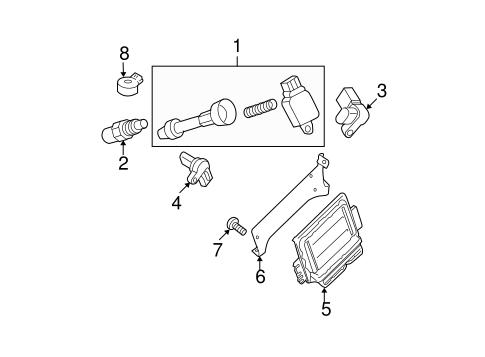 Nissan Camshaft Position Sensor 237316j90b