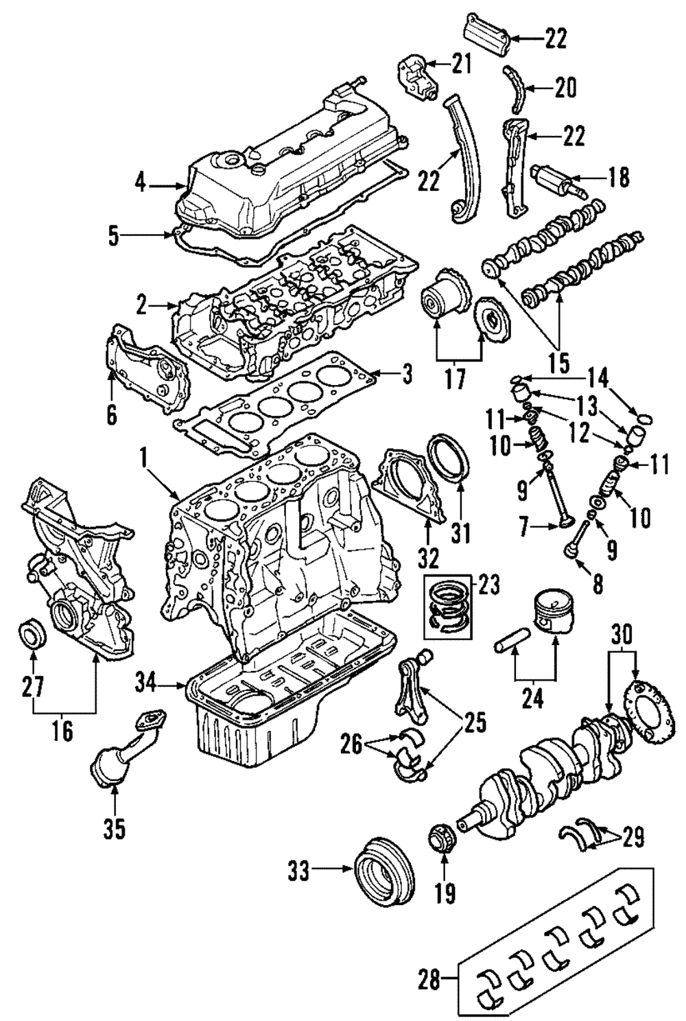 [SCHEMATICS_4CA]  Genuine Nissan Chain Guide 13091-4M500 | eBay | 02 Sentra Engine Diagram |  | eBay