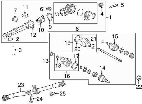 traverse engine diagram axle   differential for 2013 chevrolet traverse  ltz  gmpartsnow  2013 chevrolet traverse  ltz