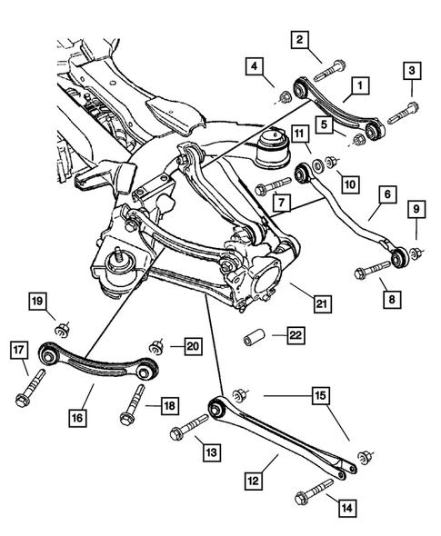 Genuine Chrysler 4766818AB Spring Pivot Bushing