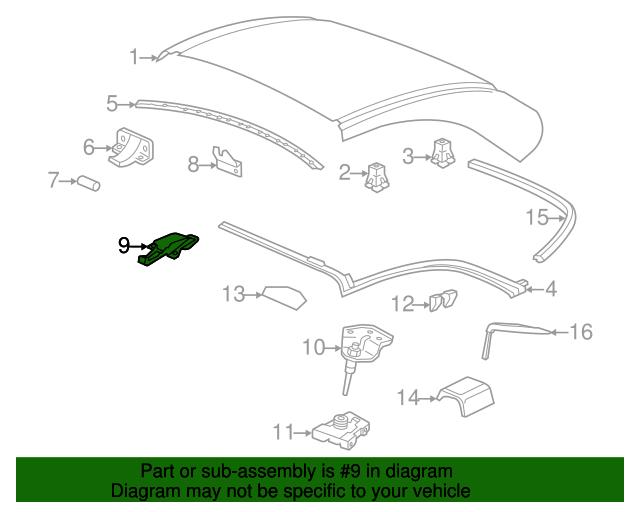 porsche 996 diagrams convertible top latch porsche  996 563 401 00  sunset porsche  porsche  996 563 401 00