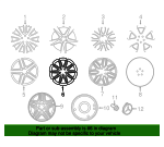 Wheel, Alloy - Mercedes-Benz (166-401-27-00-7X21)
