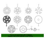 Wheel, Alloy - Mercedes-Benz (166-401-20-02-7X21)