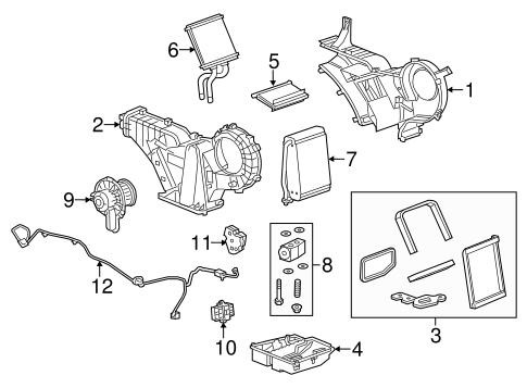 Oem 2015 Gmc Yukon Xl Auxiliary Ac Heater Unit Parts