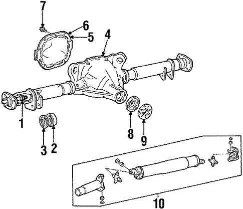 Axle Housing For 1999 Lincoln Town Car Beechmont Ford Parts