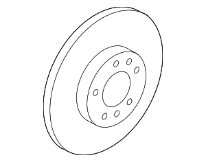 Disc Brake Rotor - Mazda (GP7Y-33-25XB)