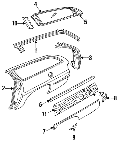 Quarter Panel & Components for 1996 Buick Commercial Chassis #0