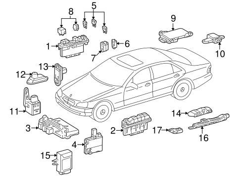 Electrical Components for 2001 Mercedes-Benz S 500 #0