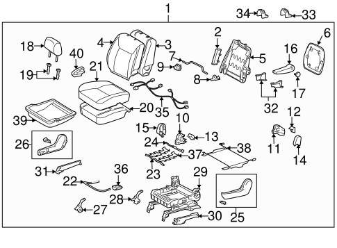 BODY/FRONT SEAT COMPONENTS for 2008 Toyota Sienna #2
