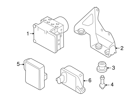 OEM VW ABS Components for 2007 Volkswagen Touareg | VWPartsVorte Abs Wiring Diagram Vw Touareg on
