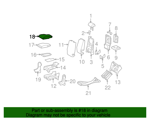 TOYOTA Genuine 71940-0C460-B1 Headrest Assembly
