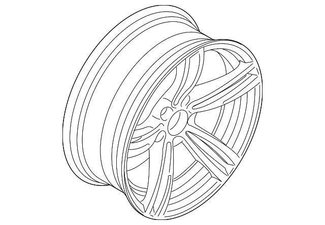 Genuine Bmw Wheel Alloy 36 11 2 284 550