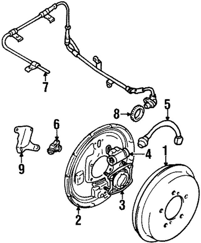 1991 1998 Suzuki Backing Plate 5312060a70