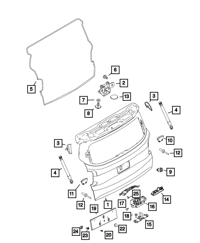 04-06 Chrysler Pacifica Front Bracket For License Plate OEM NEW MOPAR GENUINE