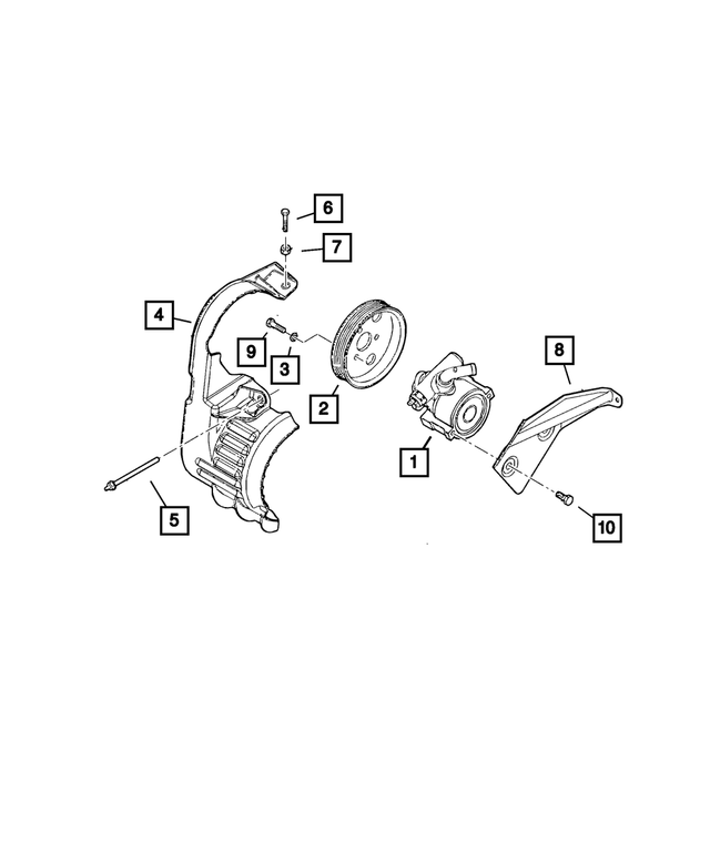 Alternator Brace - Mopar (5281338AB)