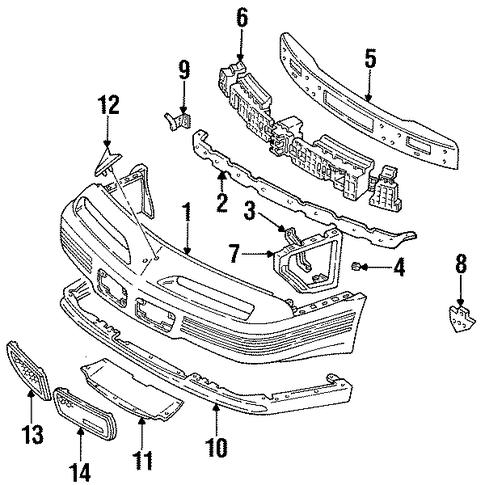 oem 1991 pontiac grand prix bumper  u0026 components