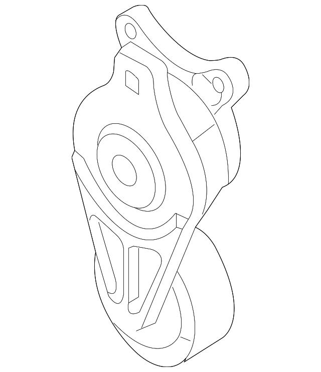 genuine ford serpentine tensioner bt4z