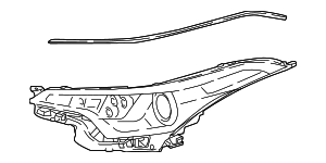 Headlamp Assembly - Toyota (81130-F4040)