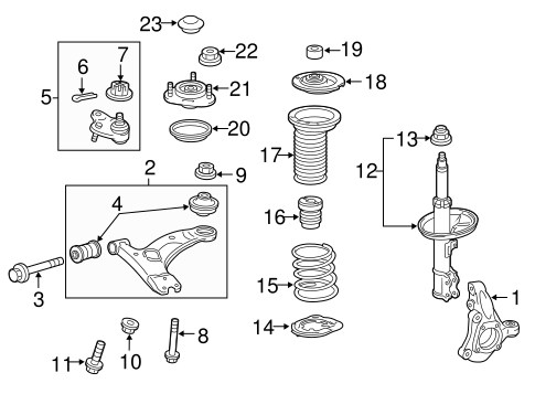 FRONT SUSPENSION/SUSPENSION COMPONENTS for 2012 Toyota Prius Plug-In #1