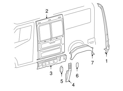 Inner Structure Rails For 2005 Dodge Sprinter 2500